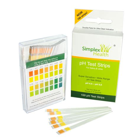 Test Urine 4 alkaline ph test strips for urine saliva 100 strips per pack for ph ebay