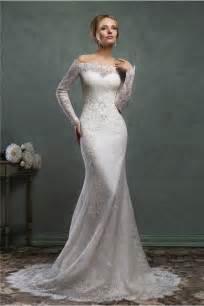 classic wedding dresses classic mermaid the shoulder vintage lace sleeve wedding dress