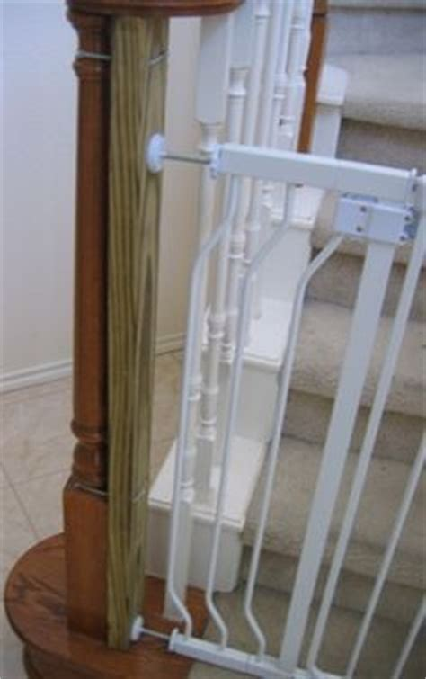 baby gates for bottom of stairs with banister diy bottom of stairs baby gate w one side banister get a