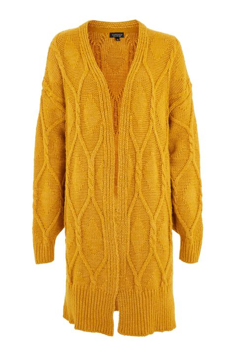 cable knit cardigans longline cable knit cardigan topshop