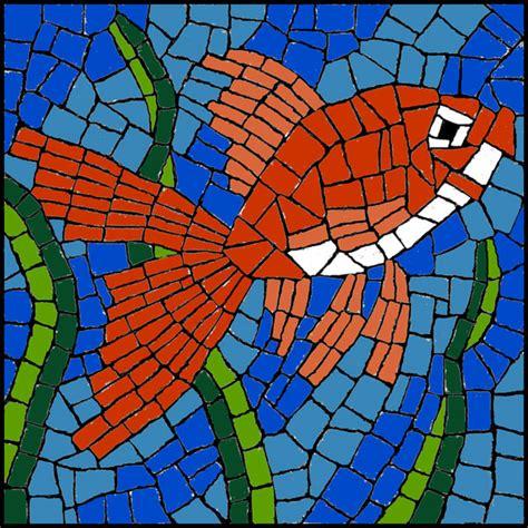 mosaic templates free mosaic pattern goldfish