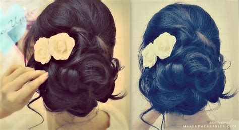 how to elegant updo with curls wedding prom hairstyles