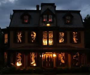scary halloween window decorations 34 scary outdoor halloween decorations and silhouette