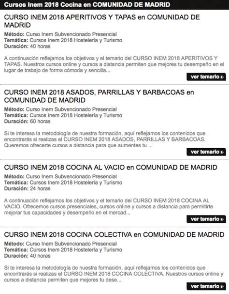 cursos de cocina inem cursos de cocina madrid 2018 gratis cursosmasters