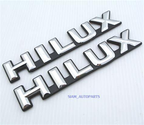 Emblem Logo Hilux New Chrome Original 2 chrome small hilux emblems logos badges for all toyota ute 84 85 86 87 ebay
