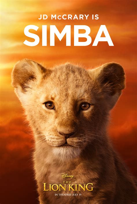 lion king character posters reveal  full cast