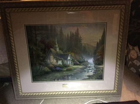 home interiors kinkade prints finding the value of a kinkade print thriftyfun