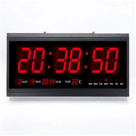 digital wall clock amazon large modern digital display led wall alarm countdown