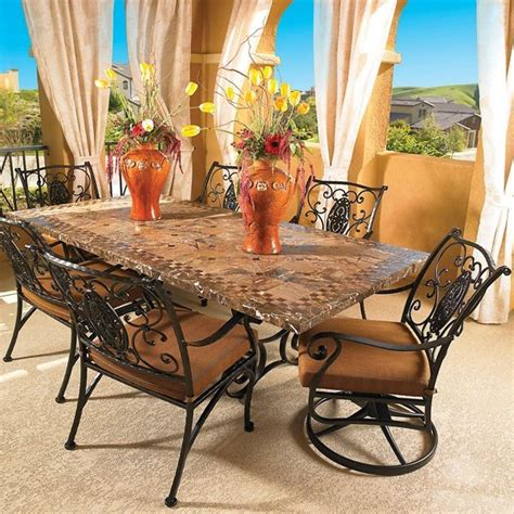 wrought iron outdoor dining table wrought iron outdoor dining table and chairs
