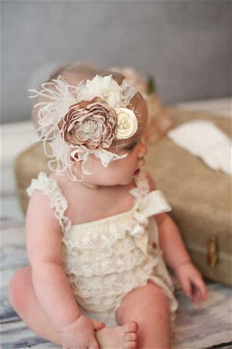 baby headband baby headband beige flower headband vintage