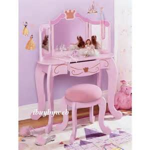 princess vanity table and chair set kidkraft 76125 pink princess vanity table