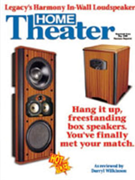home theater magazine review of harmony reviews legacy