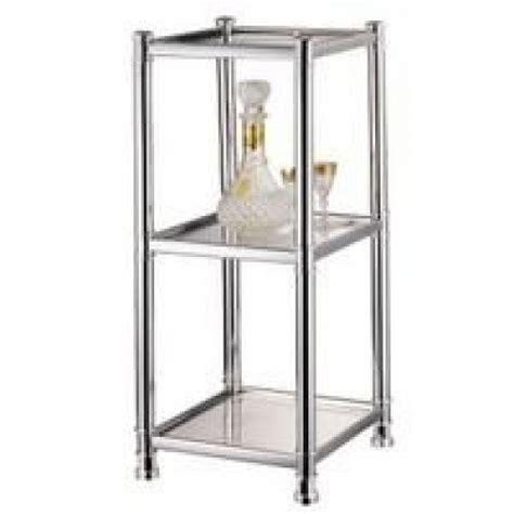 hsa ch glass shelving unit  tier chrome street