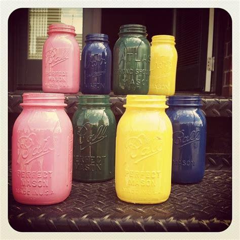 spray painting jars jar crafts spray paint