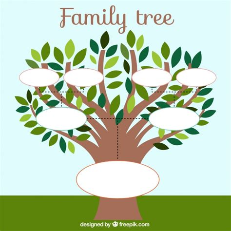 leaf template for family tree family tree template with leaves vector free
