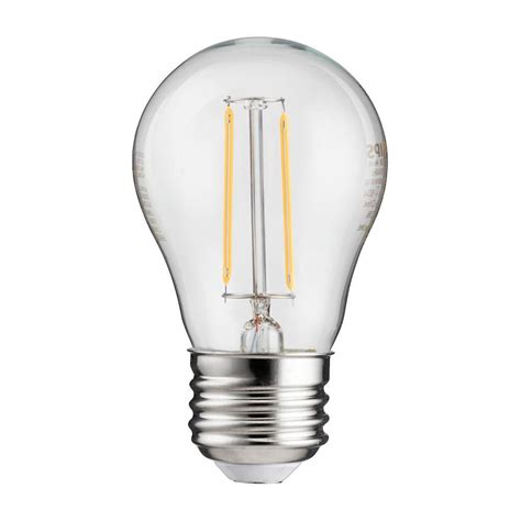 Lu Led Philips 25 Watt philips 25w equivalent vintage soft white a15 led light bulb 4 pack 461103 the home depot