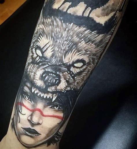 old school wolf tattoo 70 wolf designs for masculine idea inspiration
