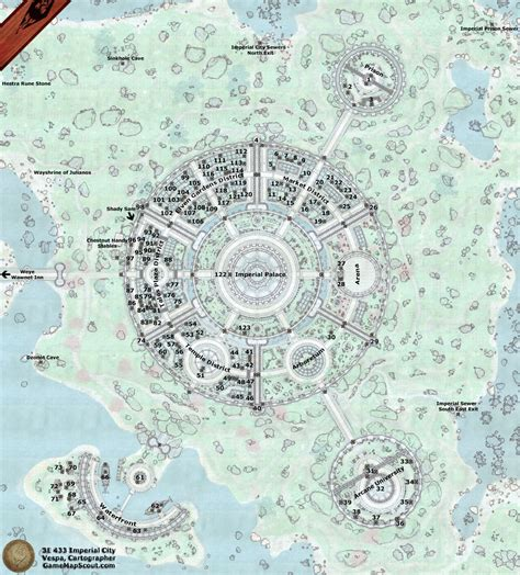 Wall Storage Shelves by Oblivion Map Of Imperial City And Its Environs Guide To