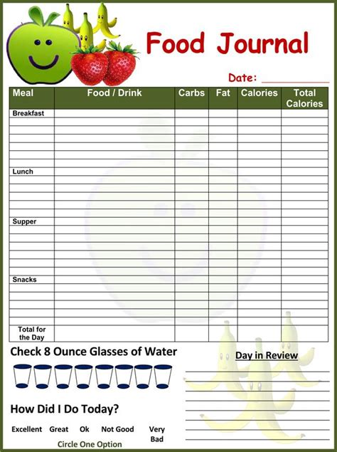 sle chart templates 187 food record chart template free