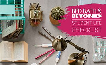 bed bath and beyond college registry college checklist bed bath beyond