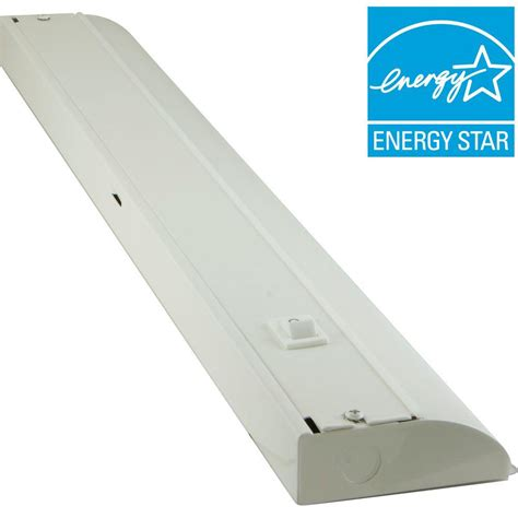 under cabinet fluorescent light fixture ge 24 in premium led direct wire under cabinet fixture