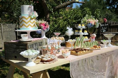 rustic backyard party ideas kara s party ideas vintage rustic garden themed birthday