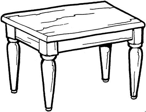 hoelzerner tisch ausmalbild malvorlage objekte