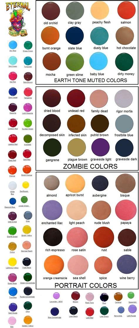 tattoo ink color chart barvy na tetov 193 n 205 spiral sun tattoo supply