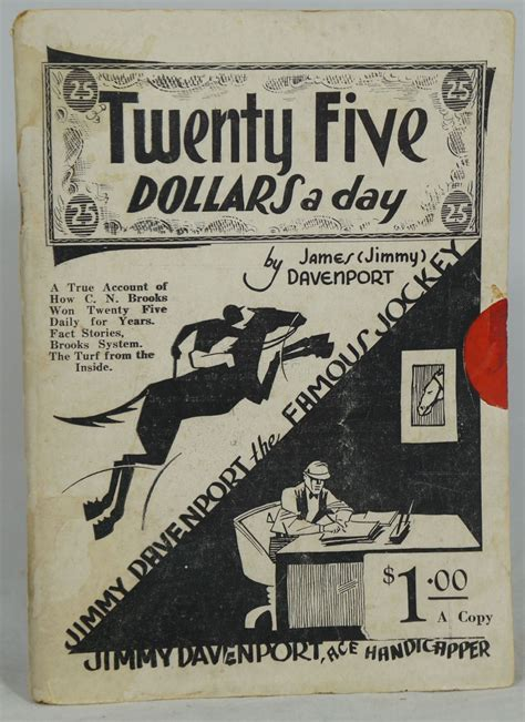 twenty five dollars twenty five dollars a day james davenport jimmy