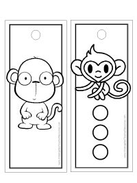 printable monkey bookmarks monkey worksheets and coloring pages