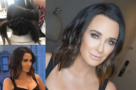 kyle richardson extensions hair kyle richards traded her super long hair for a bob and it