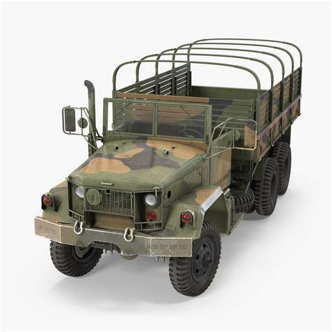 Cargo Army 4 6 army cargo truck m35 3d model
