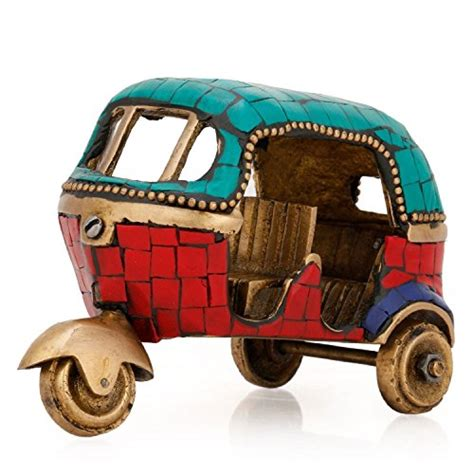 aapnocraft brass auto rickshaw figurine indian handicraft