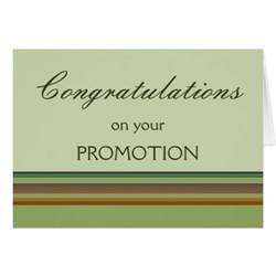 congratulations on your promotion card zazzle