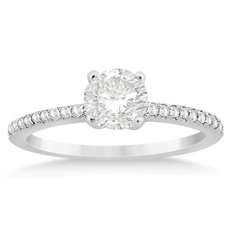 accented engagement ring setting palladium 0 18ct