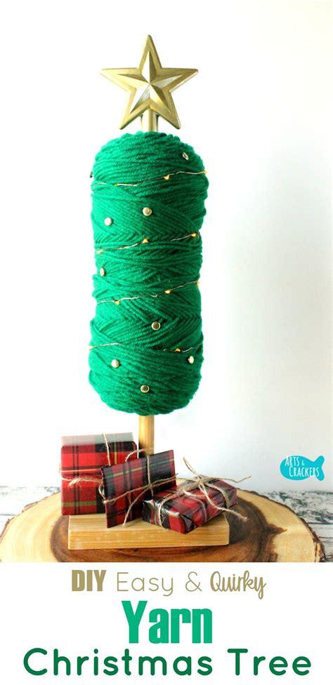 easy no sew diy yarn christmas tree holiday home decor