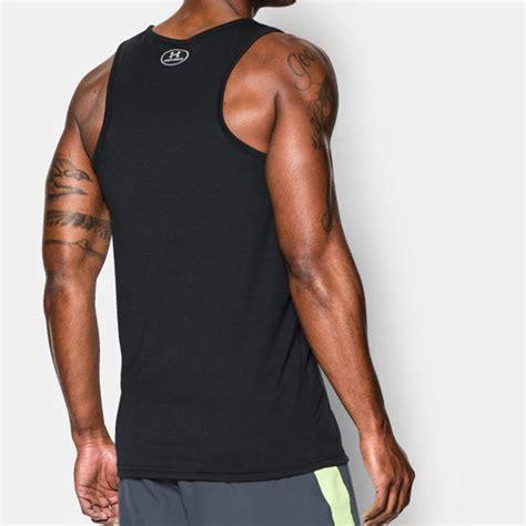 Nakedlily Vest Tank Top Black armour streaker mens black wicking running