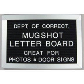 mugshot card template board sign used to identify a class in a school picture