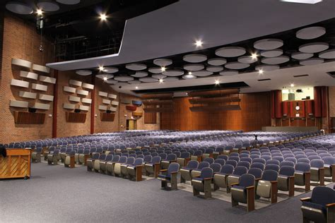 Gibbles Upholstery by Hauppauge High S Auditorium Goes High Class With Renkus Heinz