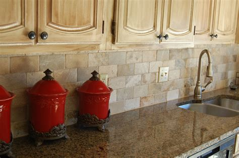 Whi To Match Tropical Brown Granite - tropical brown granite with 3x6 brick pattern back splash