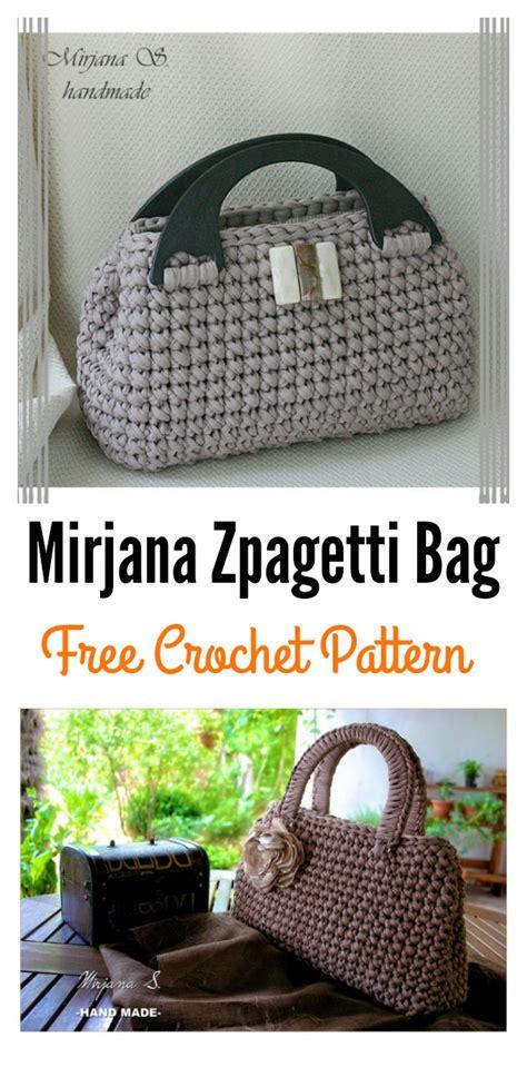 crochet zpagetti bag pattern t shirt yarn free crochet bag crochet patterns