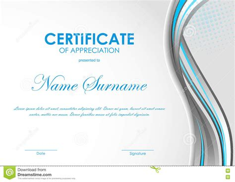 design certificate of appreciation certificate of appreciation background design www