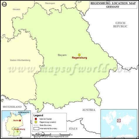 regensburg germany map where is regensburg location of regensburg in germany map