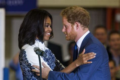 is michelle grace harry african american prince harry and michelle obama meet wounded soldiers at