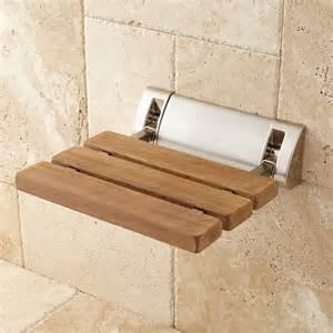 teak fold up shower seat bathroom