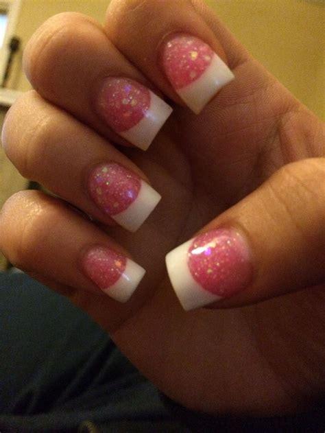 Trisia Powder White Pink White pink white powder nails