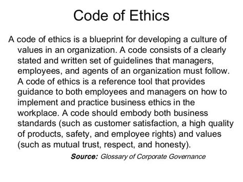 company code of ethics template 13 best codes of ethics conduct images on