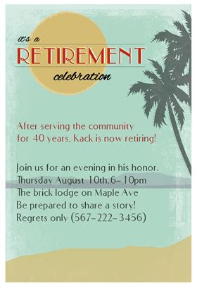 retirement celebration invitation template quot its a retirement celebration quot printable invitation