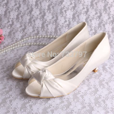 Wedding Shoes Low Heel Cheap by Popular Low Heel Ivory Wedding Shoes Buy Cheap Low Heel