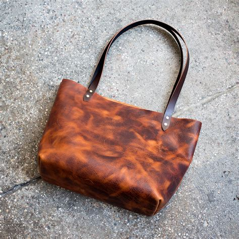 basic leather tote bag build along tutorial makesupply